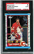 Lanny McDonald Autographed Signed 1989-90 Topps Trading Card - SGC Authentic