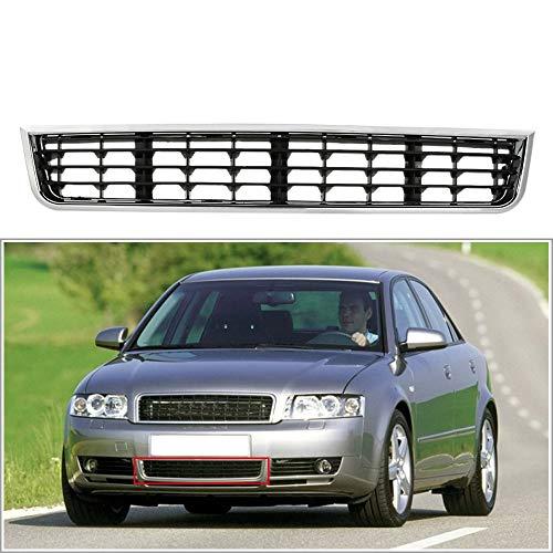 SHES Parachoques delantero Parrilla inferior Parrilla Cubierta de la parrilla delantera para A4 B6 Sedan Avant 2001-2005 Auto reemplazo