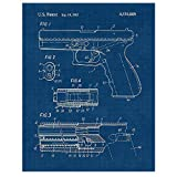 Vintage Glock Gun Patent Poster Prints, Set of 1 (11x14) Unframed Photo, Wall Art Decor Gifts Under 15 for Home, Office, Man Cave, Garage, College Student, Teacher, Cowboys, NRA & Movies Fan