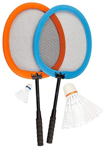 Avento Kinder Badminton Satz Badmintonsatz, Blau/Orange, 56 x 25 cm/XXL