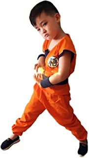 Tokyo-H Dragon Ball Costume Son Goku Kids Tail Set Japanese Anime Cosplay