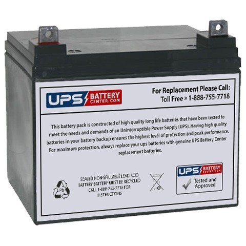 12V 35Ah Sealed Lead Acid (SLA) Replacement Battery for ClubRunner Caddie Electric Golf Bag Trolley
