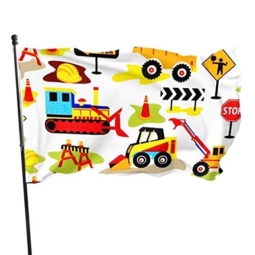 GOSMAO Bandera de 3x5 Ft I Love Camión de Basura Bandera de jardín Bandera Decorativa para el hogar Bandera de Patrulla disuasoria