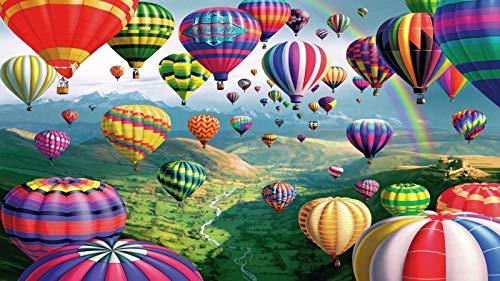 Puzzle 1000 Piezas Puzzles para Adultos Globo Aerostático Corriente De Montañaniño Rompecabezas Juego Casual De Arte Diyjuguetes Interesantes Amigo Familiar Adecuado