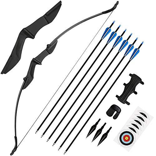 The7boX 30/40LBS Recurve Bows Archery Set,CS recurve bow Protector Arm Guard Finger Guard...