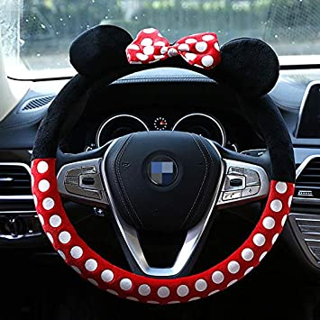 Ouyawei Nette Karikatur Lenkradabdeckung Mickey Auto Auto Zubehör Innenabdeckung Frauen Lenkradabdeckung Kt Auto
