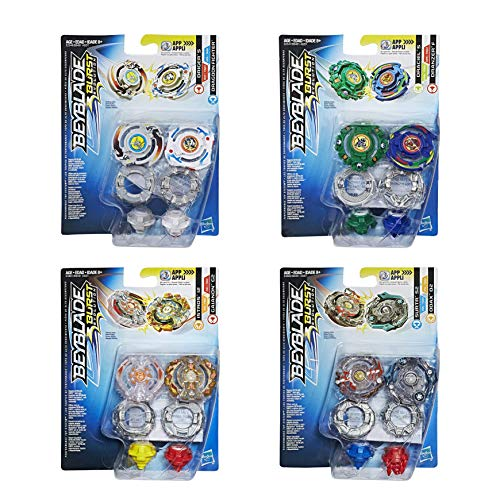 Beyblade Burst B9491EU63 Superset 4X Twin Pack = 8 trottole, Multicolore