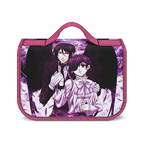 Anime Black Butler Tragbare Kulturtasche Reisetasche Große Kapazität Kosmetik Aufbewahrungstasche Unisex Wasserdicht Stilvoll Niedlich Super Multi Fächer