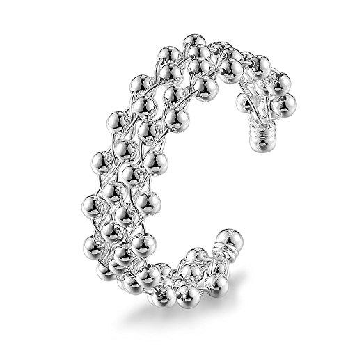 NYKKOLA Armreif mit 925er Sterlingsilber, versilbert, Modeschmuck, schöne Perlen