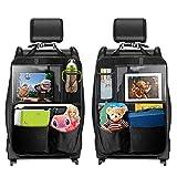 Protezione Schienale Auto, TECBOSS Organizer per Sedile Posteriore per Bambini, Organizer per Sedile Auto, Protezione per Sedili Auto, Grandi Tasche e 12,9' iPad, 2 Pezzi