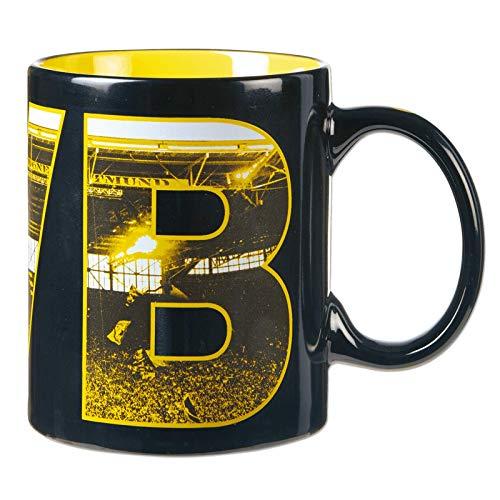 Borussia Dortmund, BVB-Tasse Fahnenmeer, 00 SCHWARZ/GELB, 0