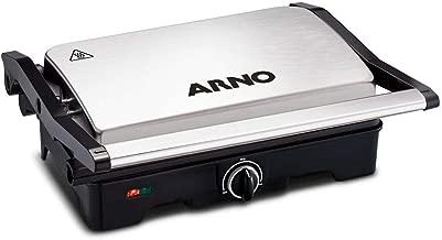 Grill Arno Dual Inox 110V Preto com Inox com Placas Antiaderentes