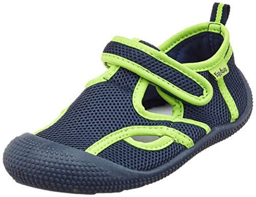 Playshoes Jungen Unisex Kinder UV-Schutz Sandale Aqua Schuhe, Blau (Marine/Grün 787), 28/29 EU