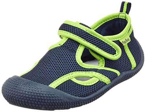 Playshoes Unisex-Kinder UV-Schutz Sandale Aqua Schuhe, Blau (Marine/Grün 787), 26/27 EU