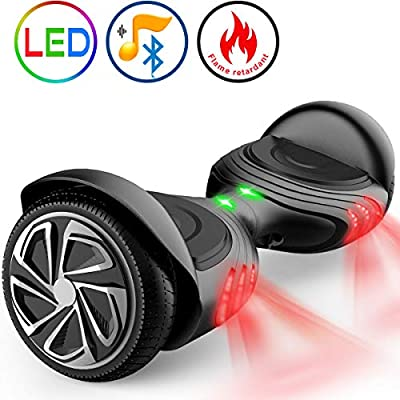 "TOMOLOO Hoverboard with Bluetooth Speaker UL2272 Certified Self Balancing Electric Scooter 6.5"" Two-Wheel Hover Boards with LED Lights for Kids and Adult"
