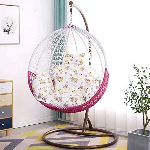 Hanging panier Chaise Coussins, Coussin Swing Seat hamac, épais nid Retour Coussin for pour jardin intérieur extérieur suspendu panier Chaise, Vert 8bayfa (Color : Flower Colorii)
