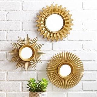 Amazon Com Gold Mirror Sets Mirrors Home Kitchen