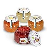 Popping Boba Original per Bubble Tea - 4X450g - Fragola, Passione, Mango, Litchi