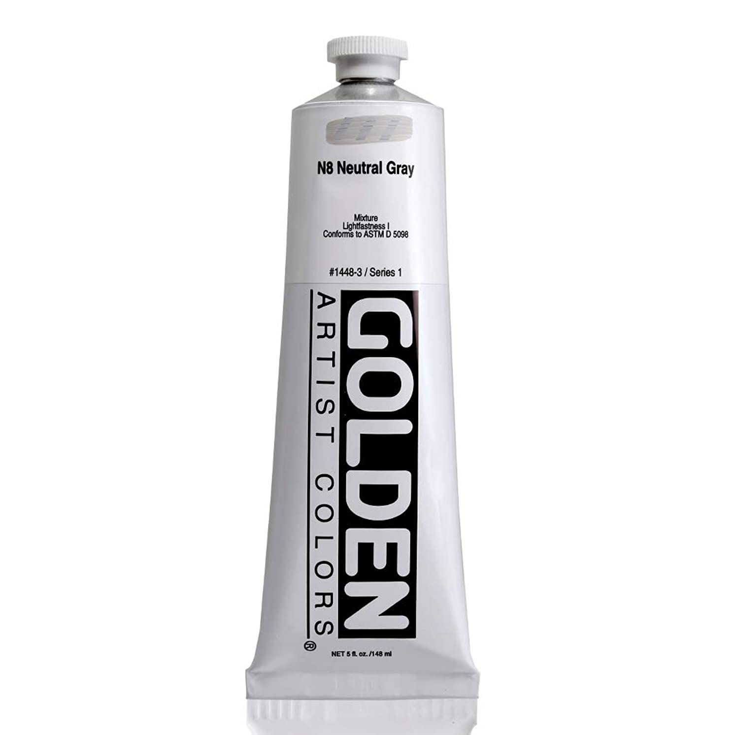 Golden Heavy Body Acrylic - Neutral Gray N8 5oz tube