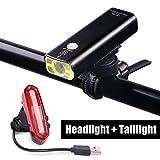 Ricaricabile LED Bike Lights set–Faro fanale posteriore combinazioni torcia bicicletta MTB strada USB Addebitabile anteriore luci posteriori