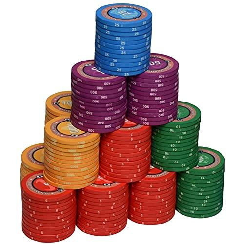 MARYYUN Chip di Poker fiches 39 mm fiches ceramiche Chip di Poker del Casinò (Color : Blue)