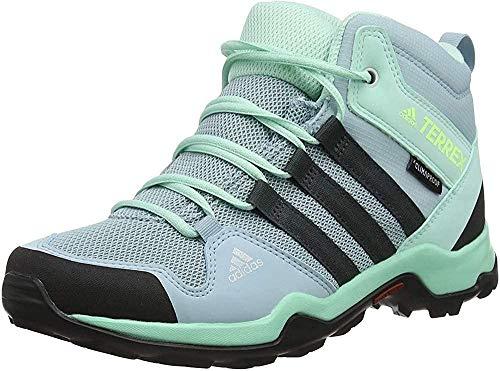 adidas Terrex Ax2r Mid CP K, Chaussures de Marche Nordique Mixte enfant Gris (Ash Grey S18/Carbon/Clear Mint Ash Grey S18/Carbon/Clear Mint) 35.5 EU