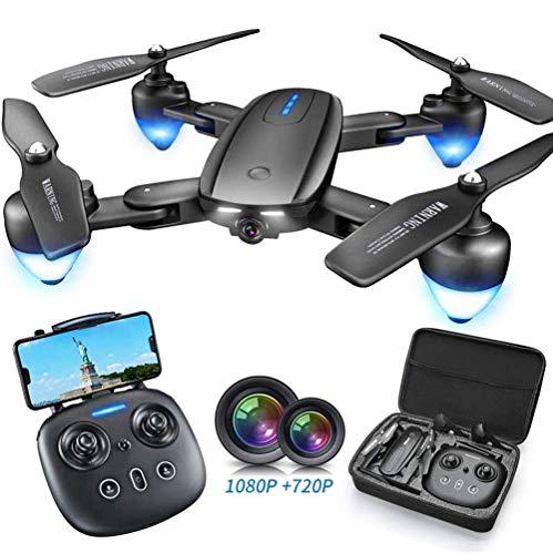 RCTOYS Drohne Mit Kamera HD, Drohne Mit 1080P HD WiFi FPV Live Übertragung, 20 Minuten Lange Akkulaufzeit&App-Steuerung&One Key Start/Landung&Headless Modus&Gestensteuerung(Zwei Batterien)