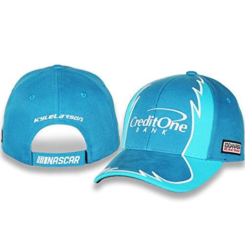 Karierte Flagge Kyle Larson # 42Kreditkarten One Sport Jagged Treiber Nascar Hat/Cap