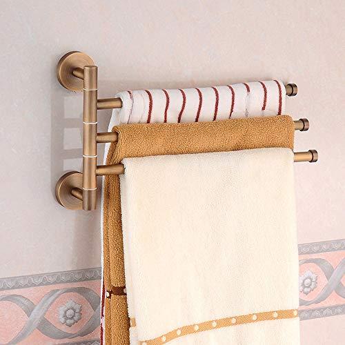 MLMQ Wandmontage Kupfer Handtuchhalter, Retro Toilette Handtuchstangen mit Wasserdicht Rostfrei, Schwenkbar Gebürstet Badetuchhalter für Badezimmer Küche Bar Tür Toilette,A