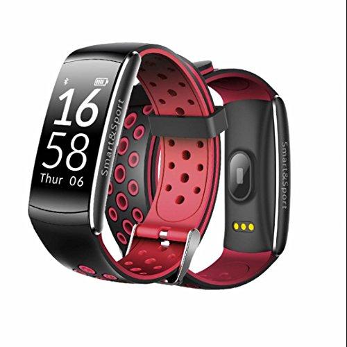 Sport Fitness Braccialetto Bluetooth Smart Bracciale,Contapassi,Outdoors Sportivo Multifunzione,Activity Tracker,Heart Rate monitor,comodo e pratico,con Pressione Arteriosa/Ossimetro e Cardiofrequenzimetro Per iPhone ios/Android