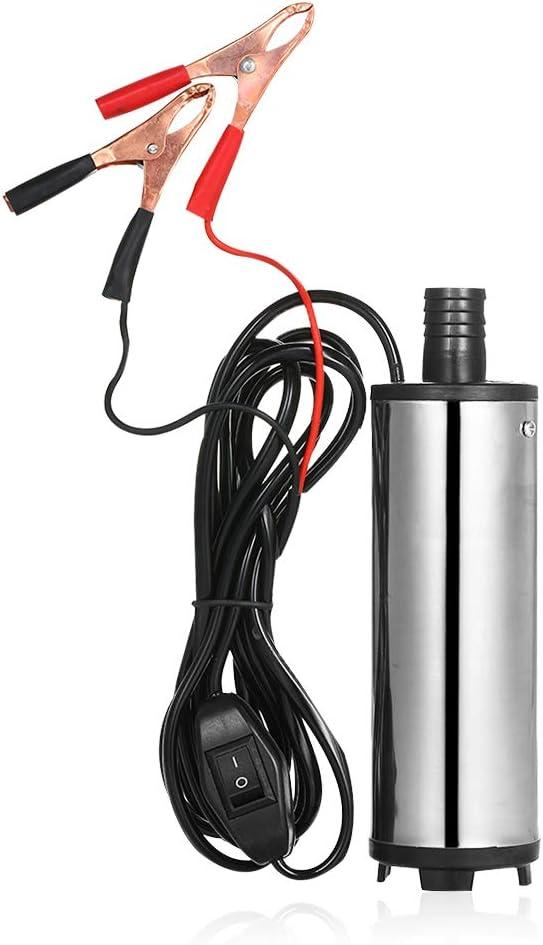 Kkmoon Dc 12v 24v Tauchpumpe Zum Pumpen Von Dieselöl Wasser 51mm Wasseröl Diesel Kraftstoffförderpumpe Betanken Baumarkt