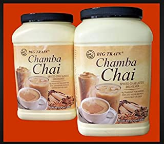 Chamba Chai Spiced Chai Latte 4lb. Container (Super Value 2 Pack)
