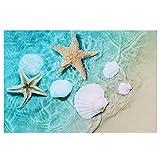 Yagosodee Sandbeach Starfish Pattern - Adhesivo decorativo para acuario (40 x 60 cm)