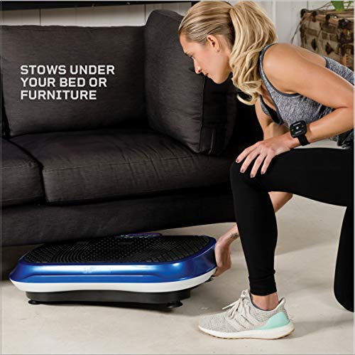 LifePro Vibration Plate Exercise Machine - Whole Body Workout Vibration Fitness Platform w/Loop Bands - Home Training Equipment - Remote, Balance Straps, Videos & Manual