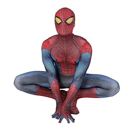 XNheadPS Disfraz Spiderman Asombroso Negro Trajes Juego cumpleaños Traje Halloween Juego rol película Disfraz Mono Spandex Traje Licra Mameluco de Navidad, Adult 2XL 175~180cm