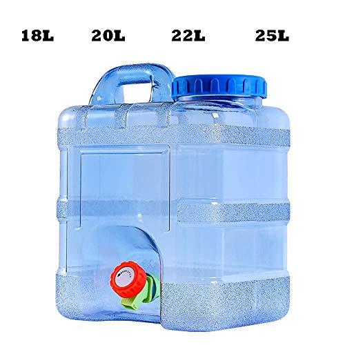 BZZWJ Recipiente de Agua, portátil, Material para PC de Grado alimenticio, se Puede llenar con Agua hirviendo, con Tubo de extensión, Grifo, Azul, 22L, para el hogar