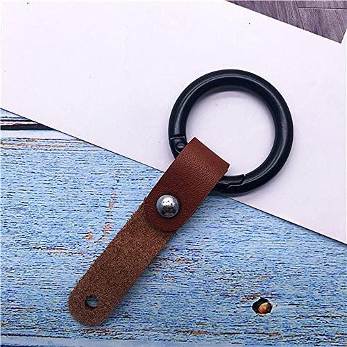Correas para teléfono móvil, metal, cuero, llavero para coche, llaveros, cordón para llave para unidades flash USB, llaves, tarjeta de identificación, marrón