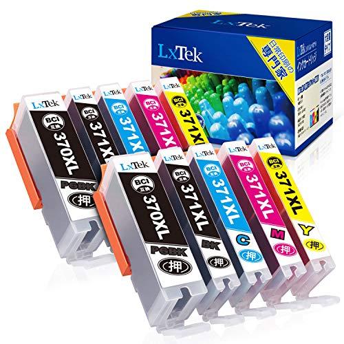 【LxTek】BCI-371XL BCI-370XL 互換インクカートリッジ Canon用 インク 371 370 5色セット*2(合計10本) 大容量/説明書付/残量表示/個包装 キヤノン用 TS5030 TS5030S TS6030 MG7730 MG6930 TS8030 TS9030