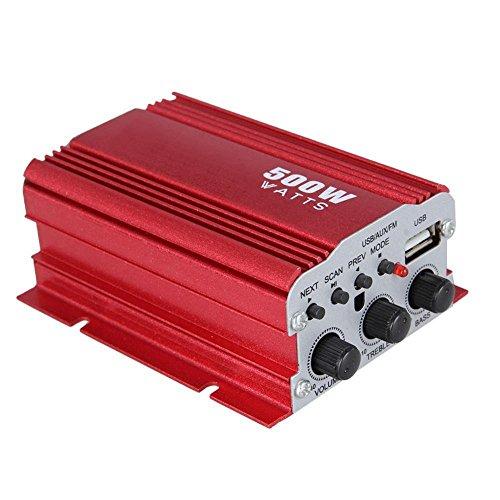 tempo di saldi Amplificatore Stereo 500W A 2 Canali Con Telecomando 12V Mp3 Usb Audio Speaker