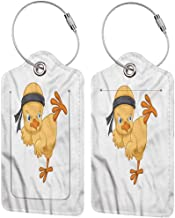 Chicken bag tags for luggage Martial Arts Kicking Chick Baggage tag suitcase carry it with you 2.85