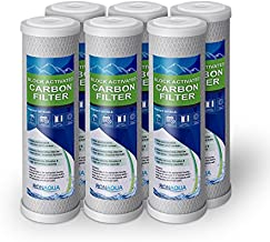 6 Block Activated Carbon 5 Micron Water Filters Set WELL-MATCHED with WFPFC8002, WFPFC9001, WHCF-WHWC, WHEF-WHWC, FXWTC, SCWH-5