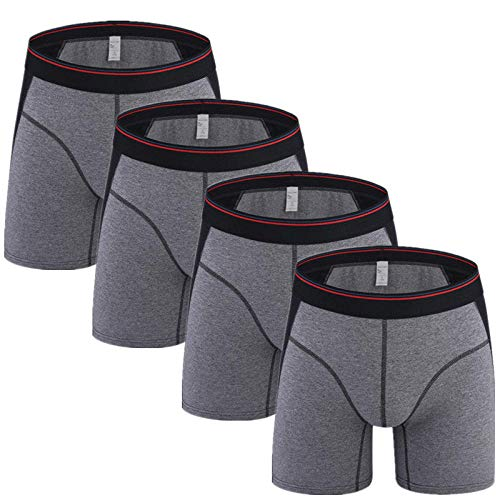 Boxershorts 4Pcs/Lot Men Underwear Boxer Man Ice Silk Underpants Trunk Panties Male Shorts for Mannen Funny Boxers Style G