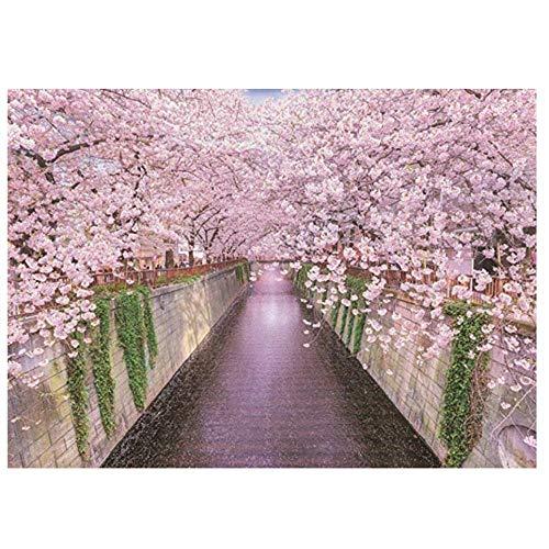 nobrand txtnt Puzzle Japanische Kirschblüte Saison 1000 Stück Japanische Stichsäge Erwachsene Stichsäge Spielzeug Puzzle 'Wald Pflanzen Tierlandschaft Ozean Dekompression Spiel