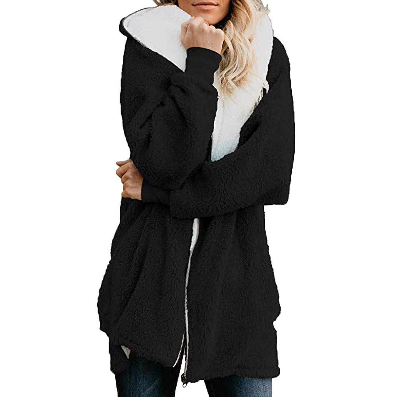 レディース コート Dafanet モッズコート アウター コート ボアブルゾン ボアコート アウター フリース ボア ジャケット ブルゾン もこもこ 防寒 カジュアル エレガント ゆったり 暖かい ジャケット 裏ボア 中綿コート フード付き S~XL