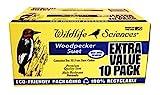 Woodpecker Suet Cake 10 Pack for Wild Birds