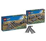 LEGO Weichen 60238 City Spielzeugeisenbahn City Schienen (60205), Kinderspielzeug