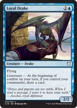 Magic: The Gathering - Loyal Drake - Commander 2018