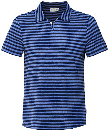 Oliver Spencer Men's Slim Fit Striped Hawthorn Polo Shirt Navy XL