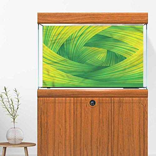 Ygosoon Aquarium 3D Seabed World Backdrop Artistic Curvy Swirl Lines 72' L x 24' H Multiple Sizes PVC Adhesive