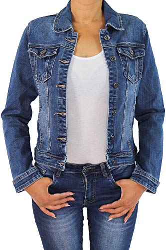 Sotala Damen Jeansjacke Denim aus Baumwolle, in Blau - Größe 42 - MF511